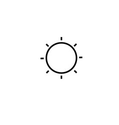 low brightness button icon vector image