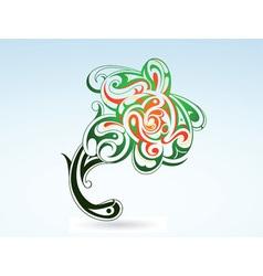 tattoo flower vector image