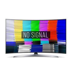 test color glitch screen digital no signal vector image