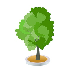 A view of a tree vector image