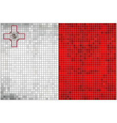 Abstract mosaic flag of malta vector