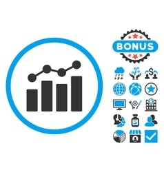 Analytics Flat Icon with Bonus vector