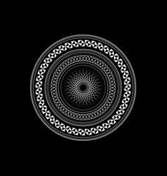 art mandala sacred geometry symbol elements vector image
