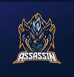 Assassin mascot logo vector
