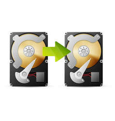 Backup data from HDD vector image