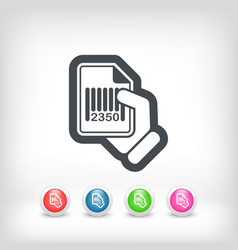 Barcode document vector