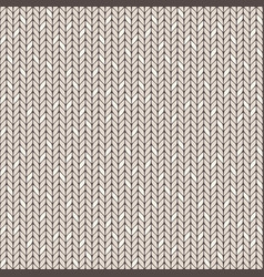 beige knitted seamless pattern vector image