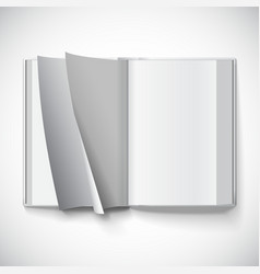 Blank open book turn pages with gradient mesh vector
