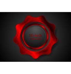 Bright red metal gear logo vector