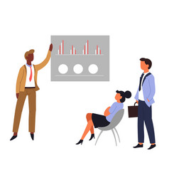 business meeting graphic or chart teamwork office vector image