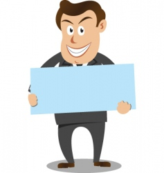 businessman carrying board vector image