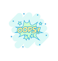 cartoon oops comic sound effects icon in comic vector image