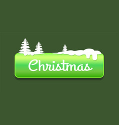 Christmas green push-button vector