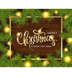 Christmas Tree Branches Border vector