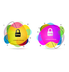Color lock vpn icon isolated on white background vector