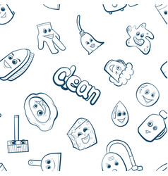 Cute cartoon items for clean up vector