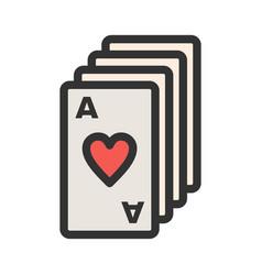 Deck cards vector