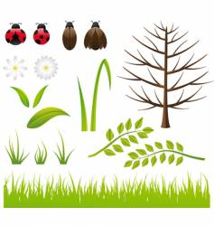 design elements spring- nature vector image