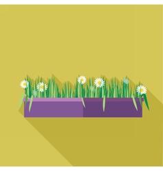 Digital green decorative camomile vector