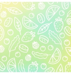 Doodle fruit background vector