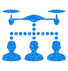 Drone clients connection grainy texture icon vector