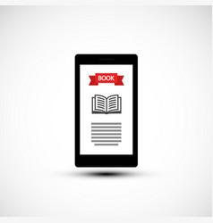 e book reader e-book reader symbol vector image