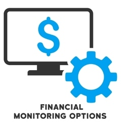 Financial Monitoring Options Icon With vector
