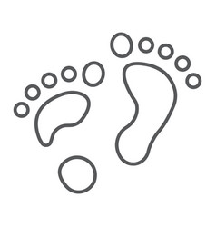 Flat foot thin line icon orthopedic and medical vector