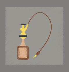 Flat shading style icon eastern hookah smoke vector
