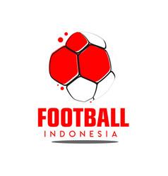 Football indonesia logo template design vector