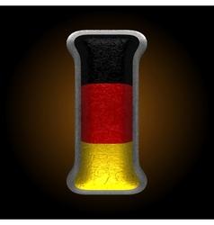 Germany metal figure i vector