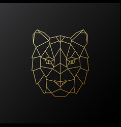 golden geometric tiger head vector image