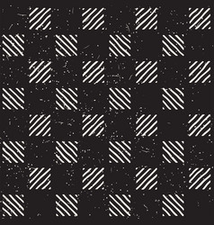 hand drawn seamless repeating pattern with checker vector image