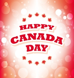 Happy Canada Day greeting card vector
