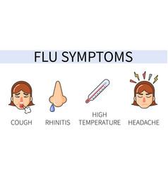 information poster seasonal flu symptoms vector image