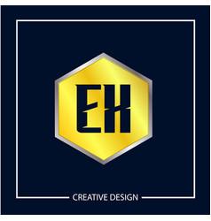 initial letter ex logo template design vector image