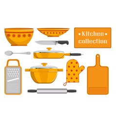 Kitchen collection sketches of kitchen appliance vector