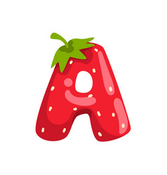 Letter a english alphabet made from ripe fresh vector