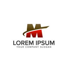 letter m motion logo design concept template vector image