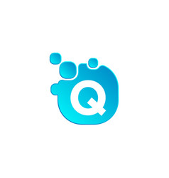 letter q bubble logo template or icon vector image
