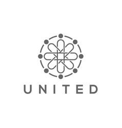 Molecule logo design abstract technology vector
