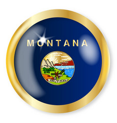 montana flag button vector image