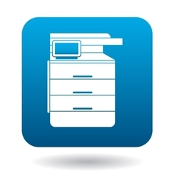 Multipurpose device fax copier and scanner icon vector
