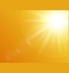 Nature orange background sun shining background vector