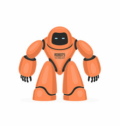 orange robot vector image