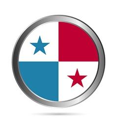 Panama flag button vector