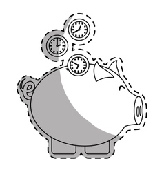 Piggy bank money icon image vector