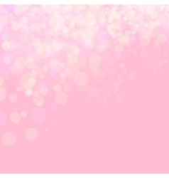 Pink shines wedding love bokeh vector image