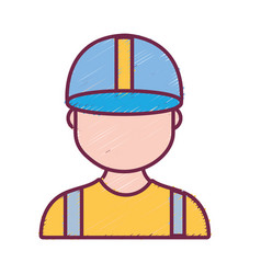 Profesional man worker with cap and clothes vector