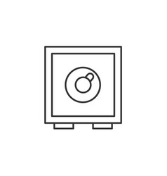safe security line icon simple modern flat for vector image